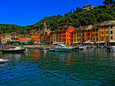Portofino Bild Photograph - Enchanting Portofino In Ligure Italy I by M Bleichner