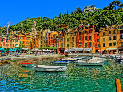 Poster Aart Photograph - Enchanting Portofino In Ligure Italy IIi by M Bleichner