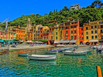 Portofino Bild Photograph - Enchanting Portofino In Ligure Italy IIi by M Bleichner