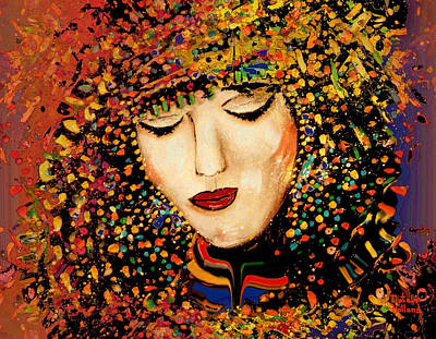 Ivory Art Mixed Media - Enchanting Princess by Natalie Holland