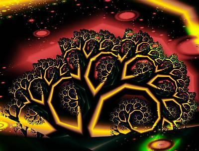 Fantasy Tree Mixed Media - Enchantment by Anastasiya Malakhova