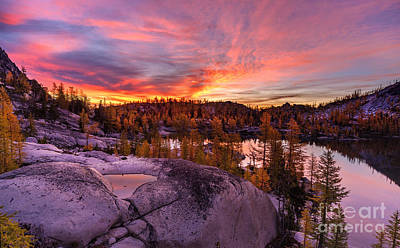 Enchantments Golden Fall Colors Art Print