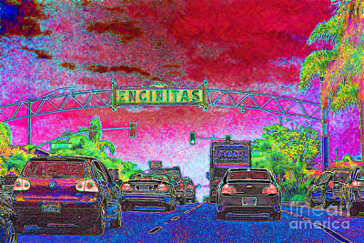Old Town Digital Art - Encinitas California 5d24221 by Wingsdomain Art and Photography