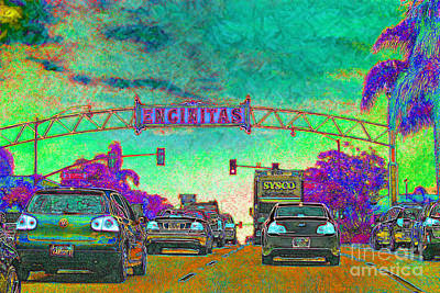 Coastal Town Digital Art - Encinitas California 5d24221p180 by Wingsdomain Art and Photography