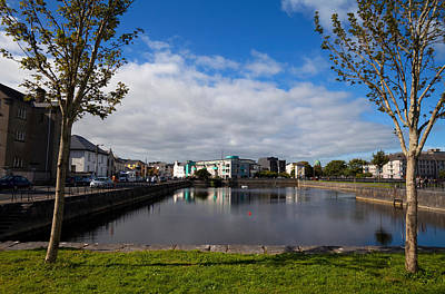 River Corrib Photograph - Enclosed Dock Off The Corrib River by Panoramic Images