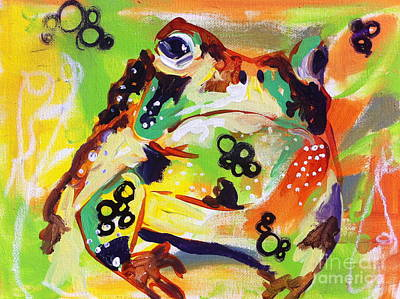 Painting - Encounter With A Toad On A Harvest Moon  by Kim Heil