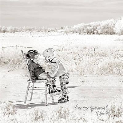 Minor Hockey Digital Art - Encouragement by Elizabeth Urlacher