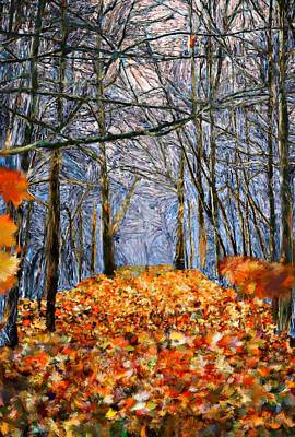 End Of Autumn Art Print by Bruce Nutting