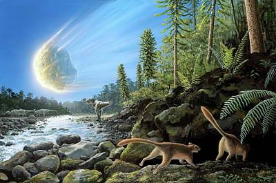 End Of Cretaceous Kt Event Print by Richard Bizley