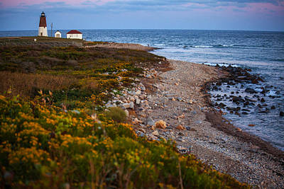 Photograph - End Of Day At Point Judith by Karol Livote