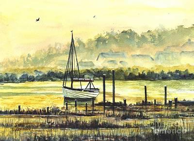 Painting - Days End by Carol Wisniewski