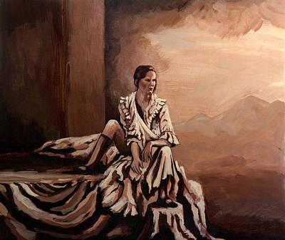 Sadness Painting - End Of Days by Rachel Christine Nowicki