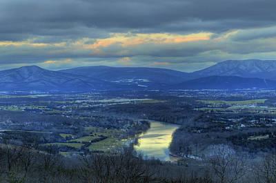 Photograph - End Of December Shenandoah Valley Sunset 2012 by Lara Ellis