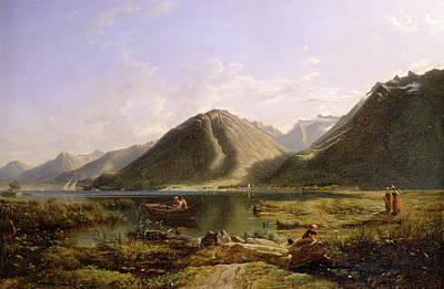 Lake Geneva Painting - End Of Lake Geneva Signed And Dated F by Litz Collection