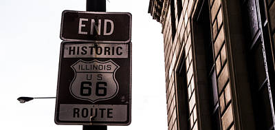 Outdoor Graphic Tees - End of Route 66 by Angus Hooper Iii