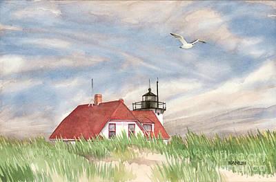 New England Lighthouse Painting - End Of Summer Race Point by Steve Hamlin