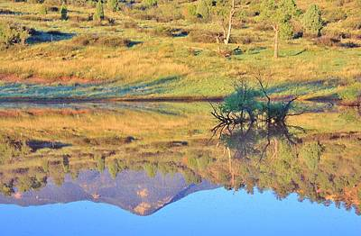 Photograph - End Of Summer Reflections 1 by Diane Alexander
