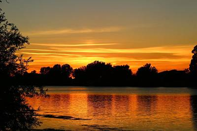 Art Print featuring the photograph End Of Summer Sunset by Lynn Hopwood