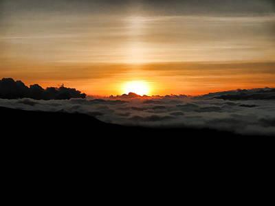Mauna Kea Digital Art - End Of The Day Above The Clouds by Dan Sabin
