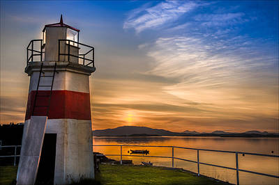 Lighthouse Crinan Canal Argyll Scotland Art Print