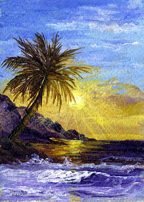 Sun Rays Painting - End Of The Day by Darice Machel McGuire