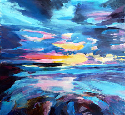 Beach Landscape Mixed Media - End Of The Day. by Justine Nettleton
