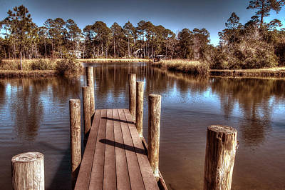 End Of The Dock Original by Michael Thomas