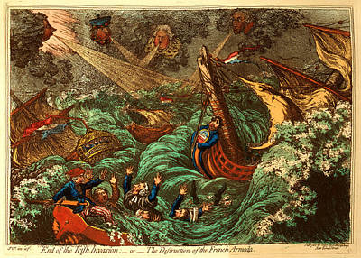 Storm Clouds Drawing - End Of The Irish Invasion Or  The Destruction Of The French by Litz Collection