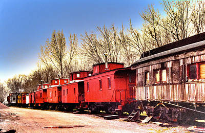 Caboose Mixed Media - End Of The Line by Chas Burnam