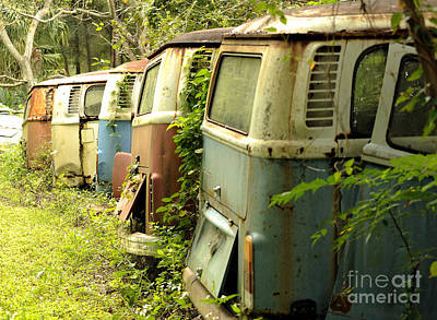 Photograph - End Of The Line For The Vw Bus by Nancy Greenland
