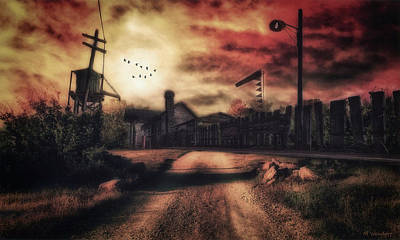 Telephone Poles Digital Art - End Of The Line by Mark Wendorf