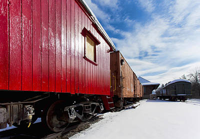 Winter Scenes Photograph - End Of The Line by Peter Chilelli