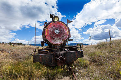 Photograph - End Of The Line - Steam Locomotive by Fran Riley
