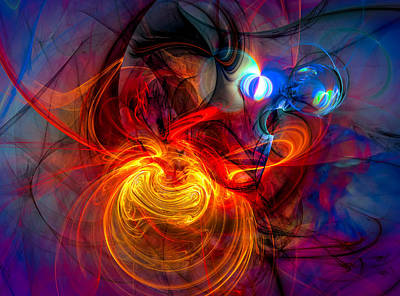 Spiritual Art Digital Art - End Of The Night by Modern Art Prints