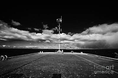Muelle Photograph - end of the quay pier in Punta Arenas port Chile by Joe Fox