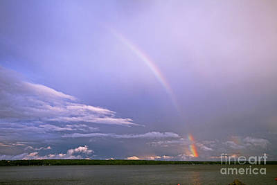 Photograph - End Of The Rainbow Sebago Lake Maine by Butch Lombardi