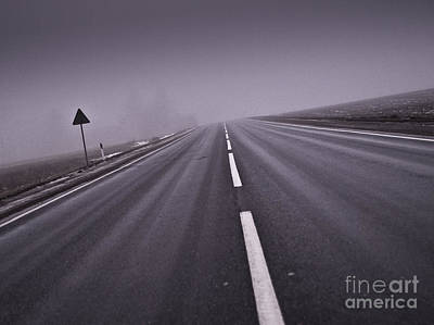 End Of The Road Art Print by Evija Freidenfelde