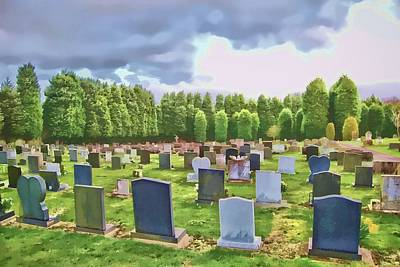 Final Resting Place Digital Art - End Of The Road by John Lynch