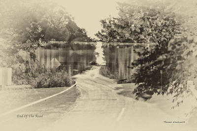 End Of The Road Merged Image Art Print by Thomas Woolworth
