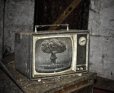 Old Tv Photograph - End Of The Show  by Empty Wall