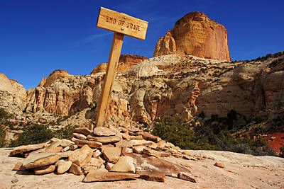 Photograph - End Of Trail At Golden Throne by Daniel Woodrum