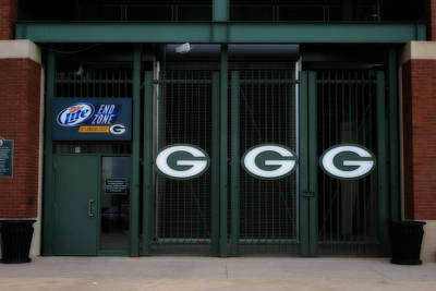 Photograph - End Zone Gates At Lambeau Field by Kay Novy