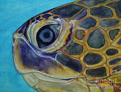 Painting - Eye Of The Honu by Suzette Kallen