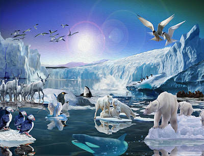 Digital Art - Endangered by Michael Pittas