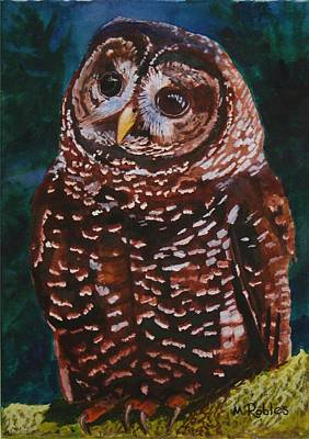 Endangered - Spotted Owl Art Print by Mike Robles