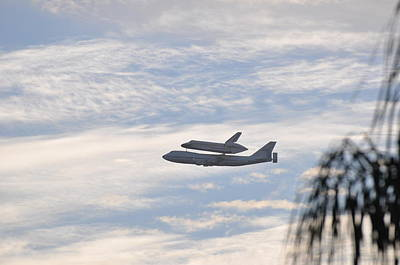 Photograph - Endeavor Morning Flyover 3 by Russell Libonati