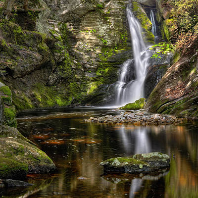 Connecticut Landscape Photograph - Enders Falls by Bill Wakeley