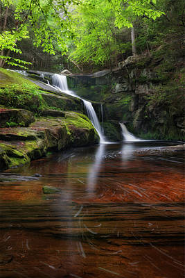 Photograph - Enders Falls Portrait by Bill Wakeley