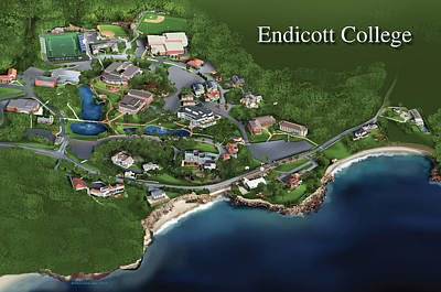 Painting - Endicott College by Rhett and Sherry  Erb
