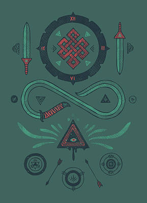 Endless Art Print by Hector Mansilla